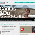 Screenshot von MeineSpende.at (08.03.2013)