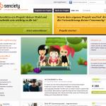 Screenshot von www.senciety.org (08.03.2013)