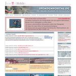 Screenshot von Spendenportal.de (08.03.2013)