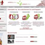 Screenshot von einfachgeben.org (08.03.2013)