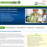Screenshot von fundraisingbox (09.03.2013)