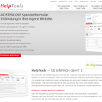 Screenshot von HelpTools spendenformular (09.03.2013)