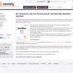 Screenshot von senciety spendenzertifikat (09.03.2013)
