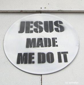 Warum spenden Menschen? Bild: Jesus made me do it