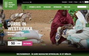Welthungerhilfe.de nach Relaunch...