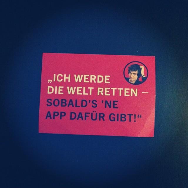 """Postkarte: """"Ich werde die Welt retten – Sobald's 'ne APP dafür gibt!"""""""