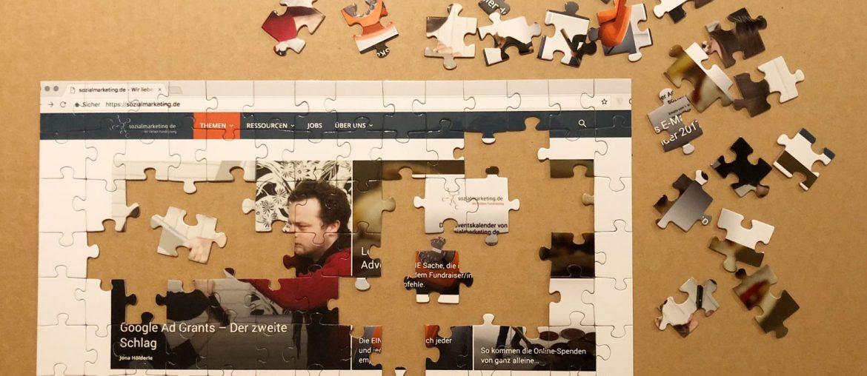 Website Relaunch dargestellt als Puzzle