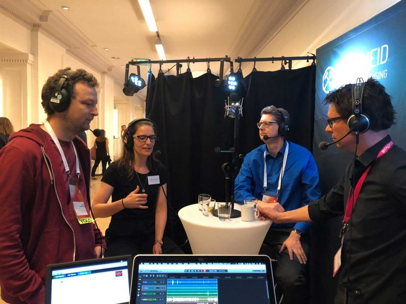 Podcast Aufnahme auf dem DFK18
