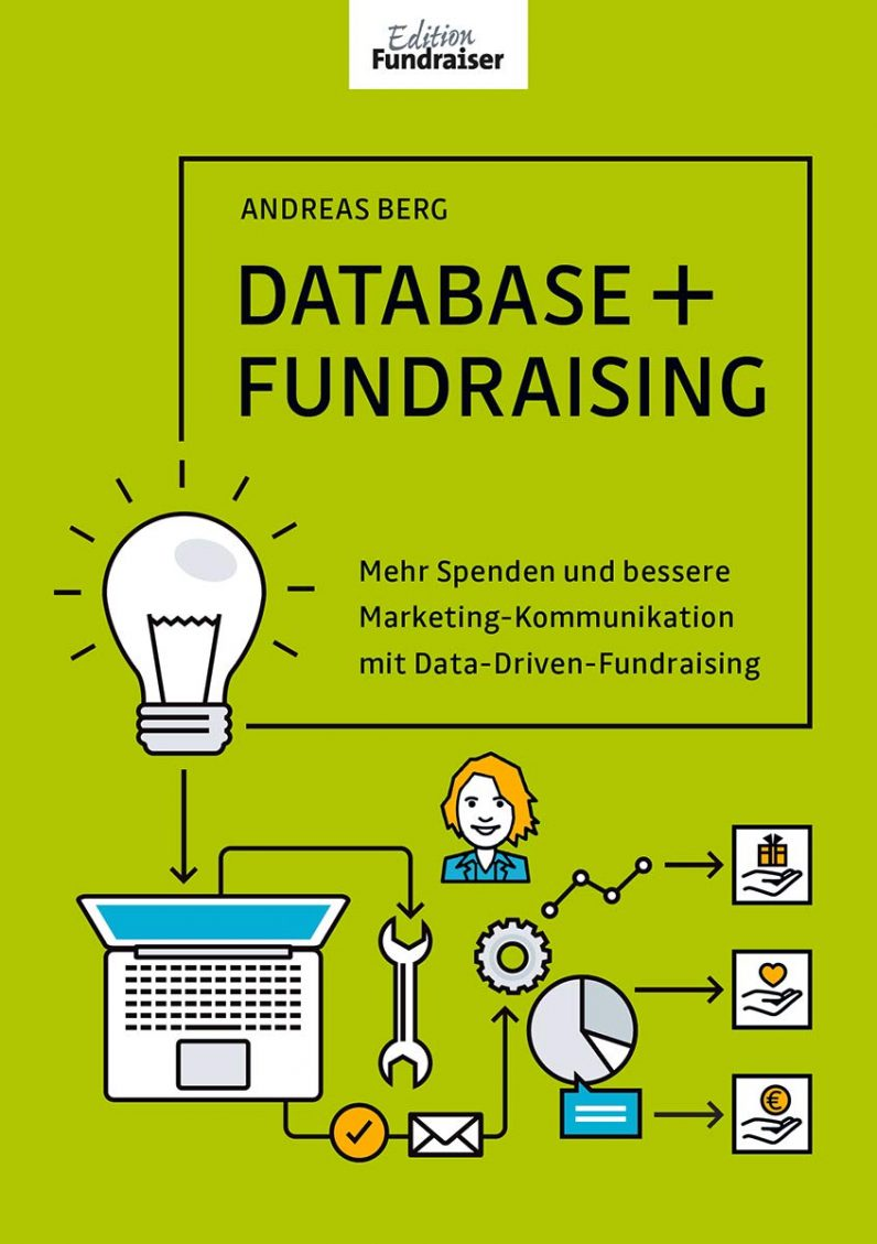 Titelbild Database + Fundraising Buch.