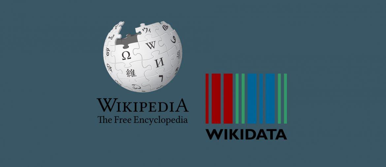 Logo von Wikipedia und Wikidata